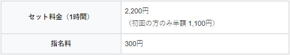 オンラインキャバクラ澪の料金システム